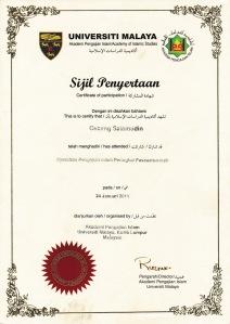 sertifikat seminar di Malaysia